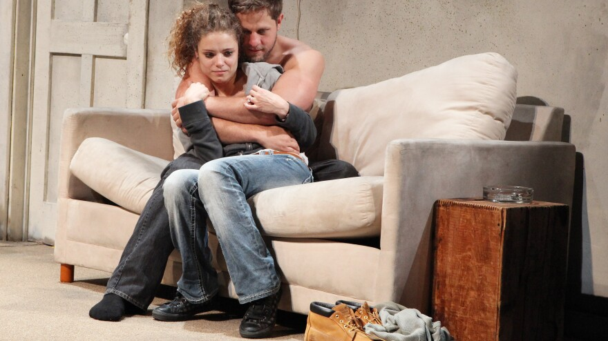 <strong>Talk Of The Town:</strong> Mia Vallet and Joe Tippett star in <em>Ashville,</em> the newest of the five-show <em>Hill Town Plays</em> cycle from playwright Lucy Thurber. Currently being staged by a consortium of New York theater companies, it's just one of several large-scale stage projects on schedules this fall.
