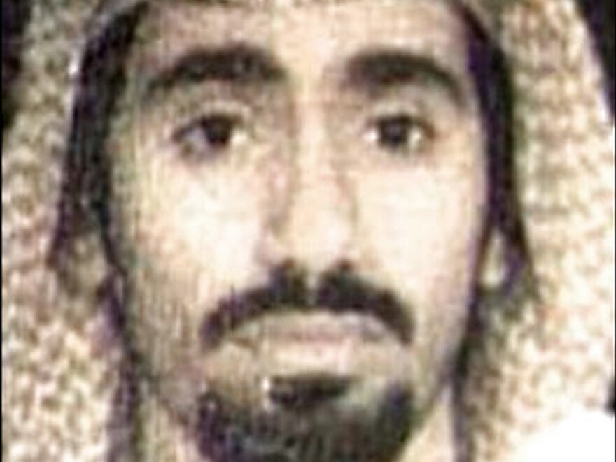 Al-Nashiri, pictured in 2002, is being held at the Naval base in Guantanamo Bay.