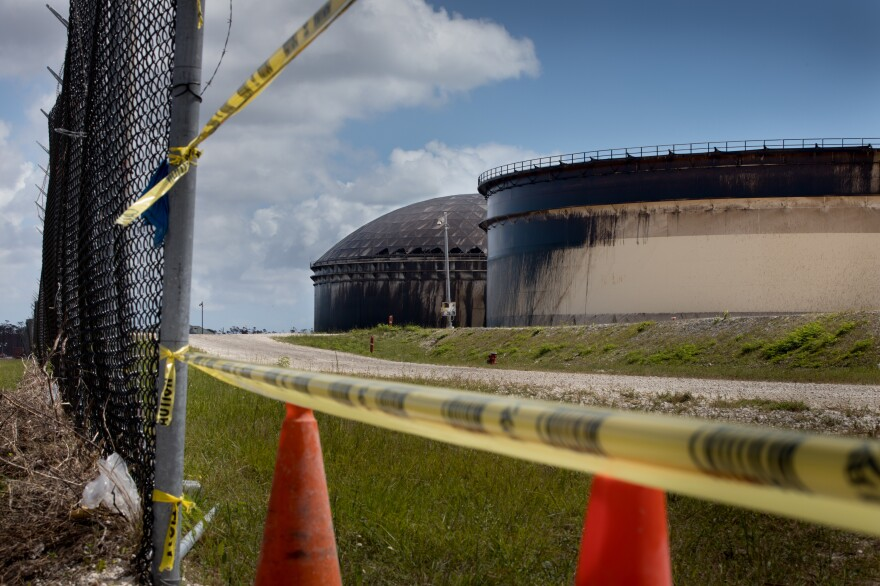 A month after Hurricane Dorian struck the Bahamas, a crude oil spill caused by the storm is still being cleaned up at a facility owned by the Norwegian company Equinor. Hurricane Dorian blew the tops of several tanks in the East End of Grand Bahama Island.