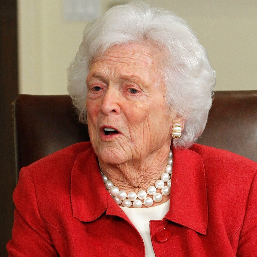 Former first lady Barbara Bush in March 2012.