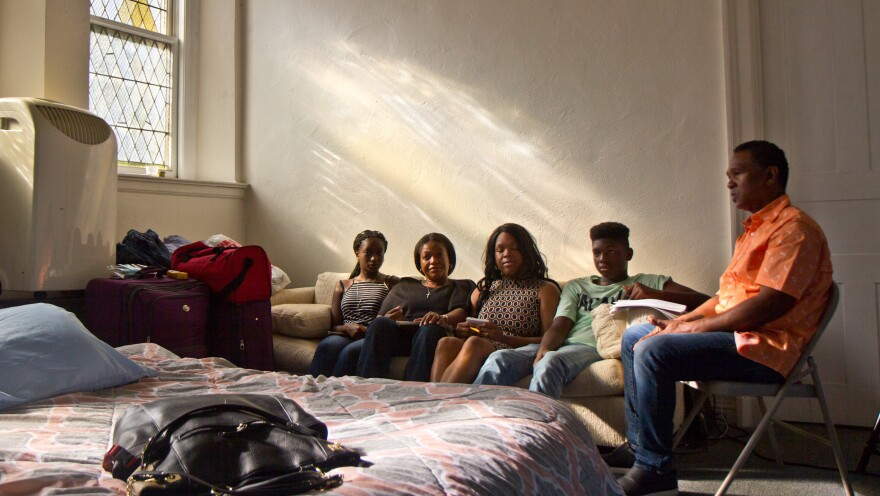 The Thompson family moved to the U.S. from Jamaica to escape threats from gangs has lived in South Jersey for 12 years. From left, daughter Christina, mother Oneita, adult daughter Shannakay Thompson-White, son Timothy and father Clive. When the parents received deportation notices, they moved into sanctuary at the First United Methodist Church of Germantown.
