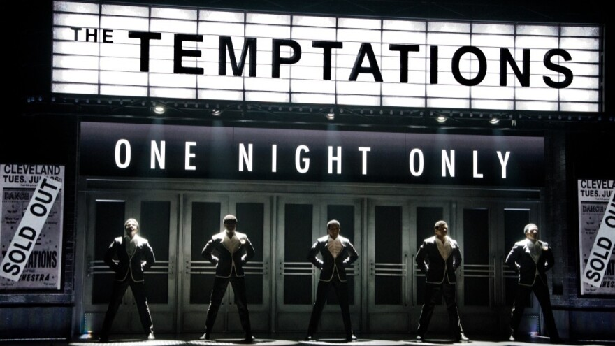 Ephraim Sykes, Jawan Jackson, Jeremy Pope, Derrick Baskin and James Harkness, star as the original members of The Temptations, in Berkeley Repertory Theatre's production of <em>Ain't Too Proud</em>,<em> </em>now playing at The Kennedy Center in Washington, D.C.