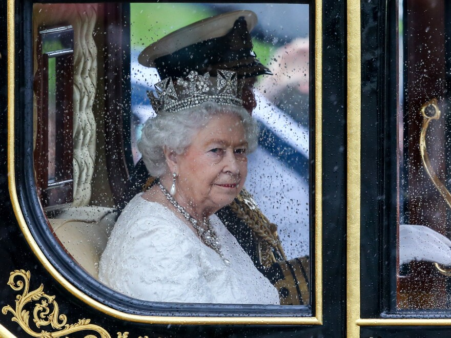 Queen Elizabeth II and Prince Philip return to Buckingham Palace after attending the Houses of Parliament on May 18, 2016 in London, England. The State Opening of Parliament is the formal start of the parliamentary year.