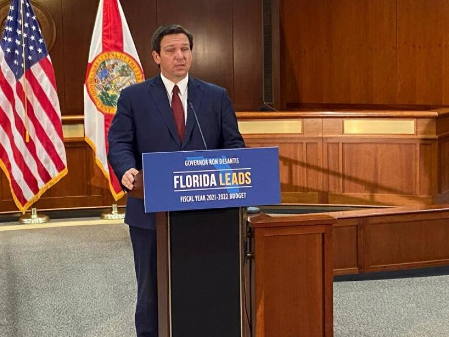 Gov. Ron DeSantis proposed a record $96.6 billion state budget for the upcoming fiscal year on Jan. 28, 2021.