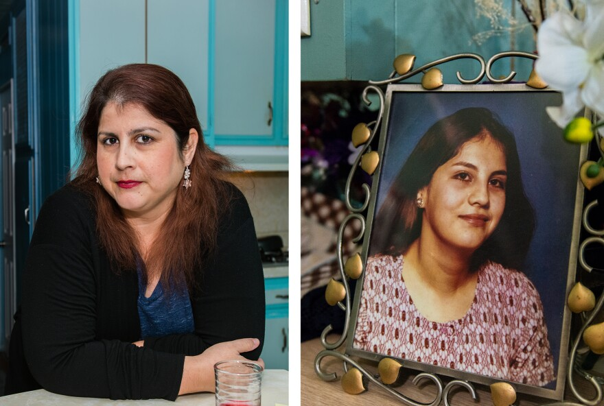 "Rosemary Navarro (left) discovered that she carries a rare gene for early-onset Alzheimer's disease. Navarro's mother (right) died from the disease in 2009. ""What I went through with my mom I wouldn't wish on anyone,"" Navarro said."