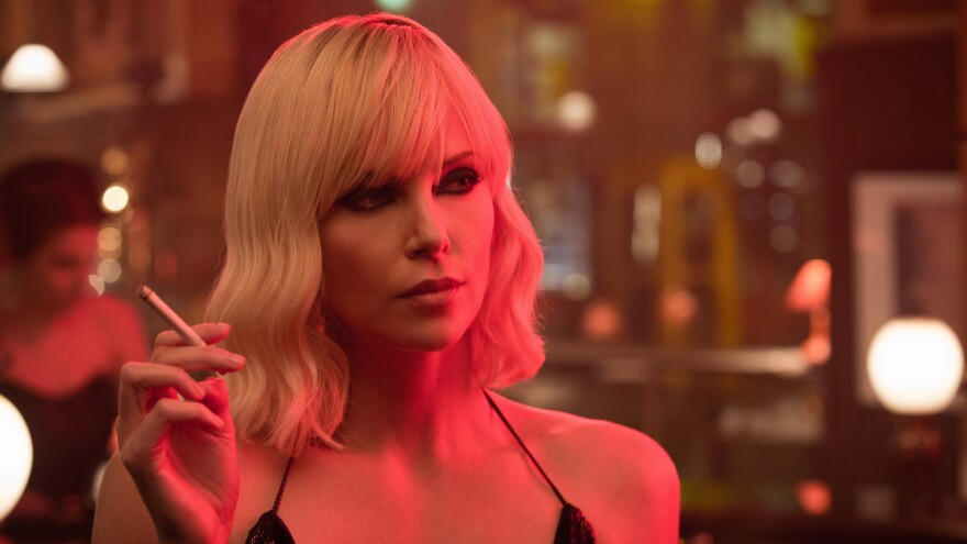 """Charlize Theron plays Agent Lorraine Broughton in <em>Atomic Blonde</em>, the tagline of which is not — repeat,  NOT — """"It Gets Broughton!"""" because nobody thought to ask us."""