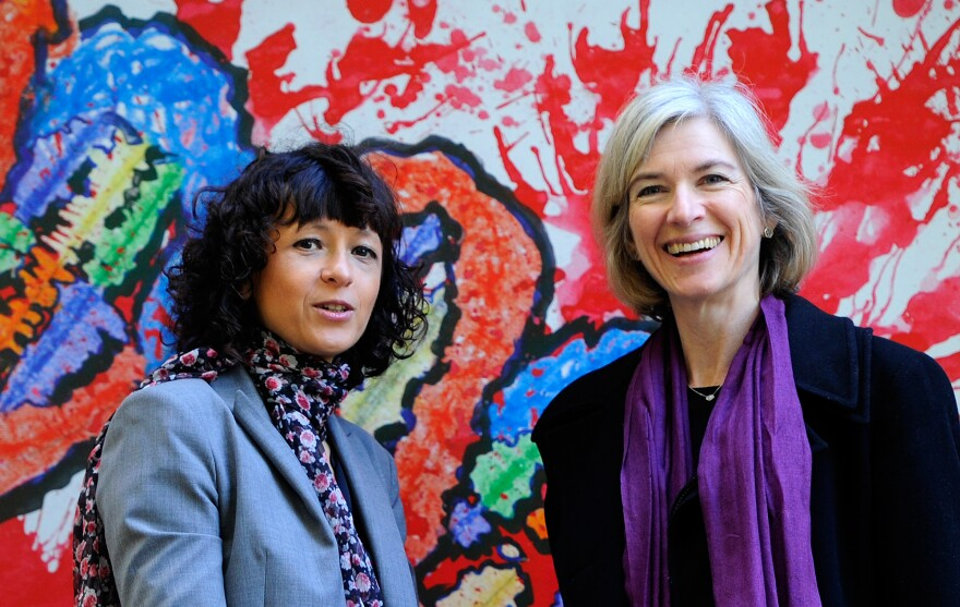 Emmanuelle Charpentier (left) and Jennifer Doudna have a case for being the inventors of CRISPR-cas9, a transformative tool for gene editing.