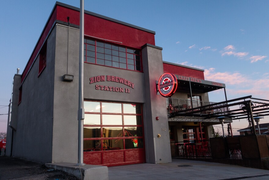 Photo of a historic firehouse that has been converted into a brewery.