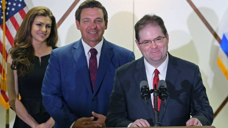 Florida Gov. Ron DeSantis named a second judge from Miami's appeals court, Judge Robert Luck, to the Florida Supreme Court on Jan. 14 at Scheck Hillel Community School in Northeast Miami-Dade.