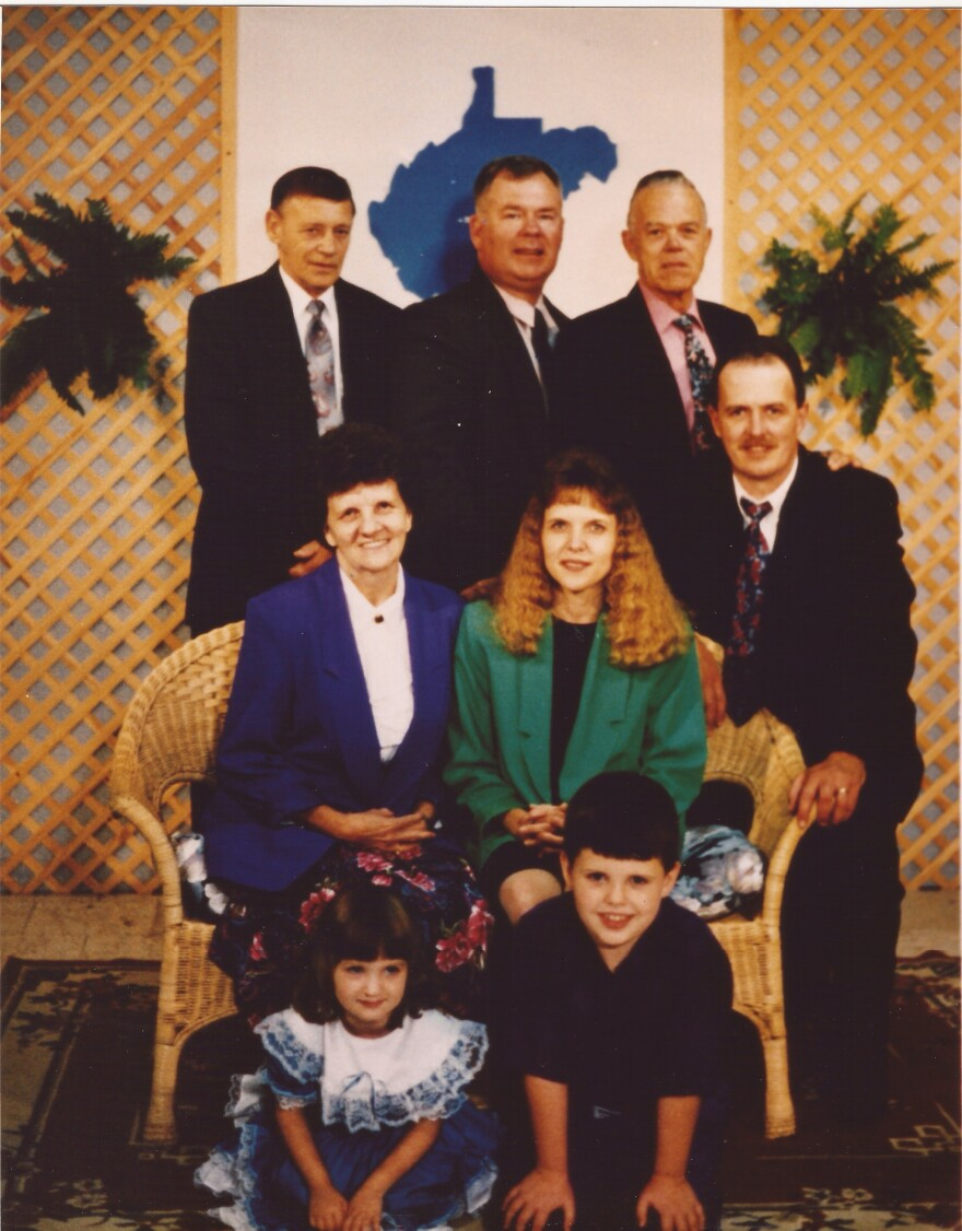 Reporter Zack Harold (front right) as a boy with his family's southern gospel singing group, The Bobby Adkins Family, at the WV Mountain State Gospel Convention. Photo by Pat Coverly