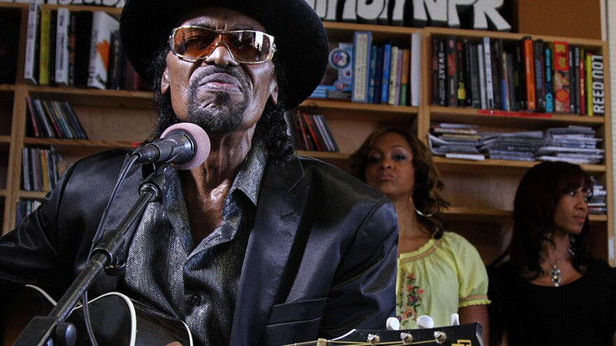 Chuck Brown performs a Tiny Desk Concert at the NPR Music offices.