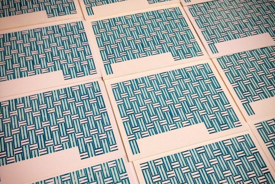 Firecracker Press's Lego prints in process