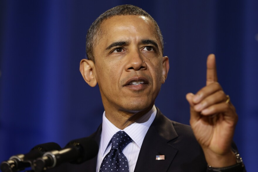 President Obama speaks at the National Defense University in Washington on Monday. Since his re-election four weeks ago, Obama is showing signs of a new, more aggressive leadership style.