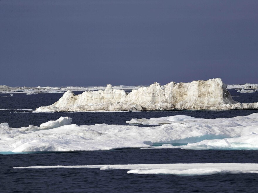 In the Beaufort Sea off the coast of Alaska, global warming is melting sea ice and glaciers at an historic rate.