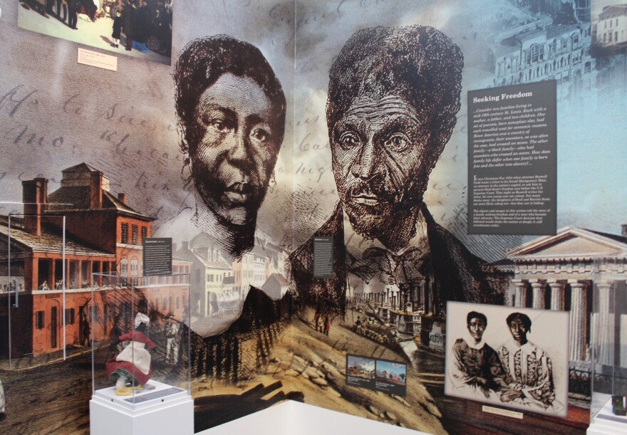 The new museum tells the story of Harriet and Dred Scott. Attorney Roswell Field, the father of Eugene Field, represented the Scotts at the Old Courthouse in their legal battles to be freed from slavery. December 2016