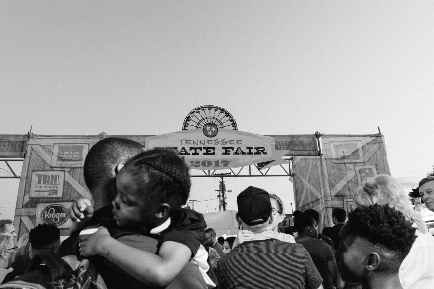 A crowd lines up to enter the Tennessee State Fair, which has come to Nashville for more than 150 years. The fair is usually held in the early fall.