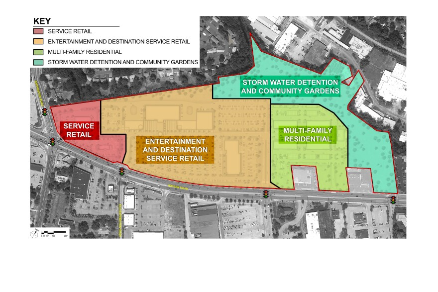 New plans for Crestwood Court, designed by UrbanStreet Group, would include retail, senior housing, entertainment venues, shopping and green space.
