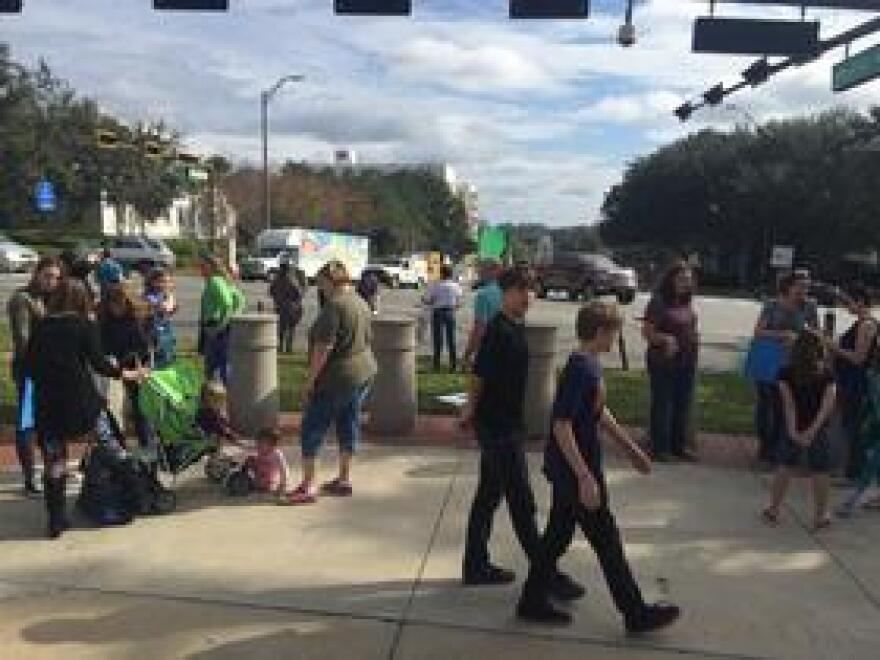 Leon County eighth grade student Charlotte Stuart-Tilley organized a school strike, held Jan. 18, to bring attention on the issue of climate change.