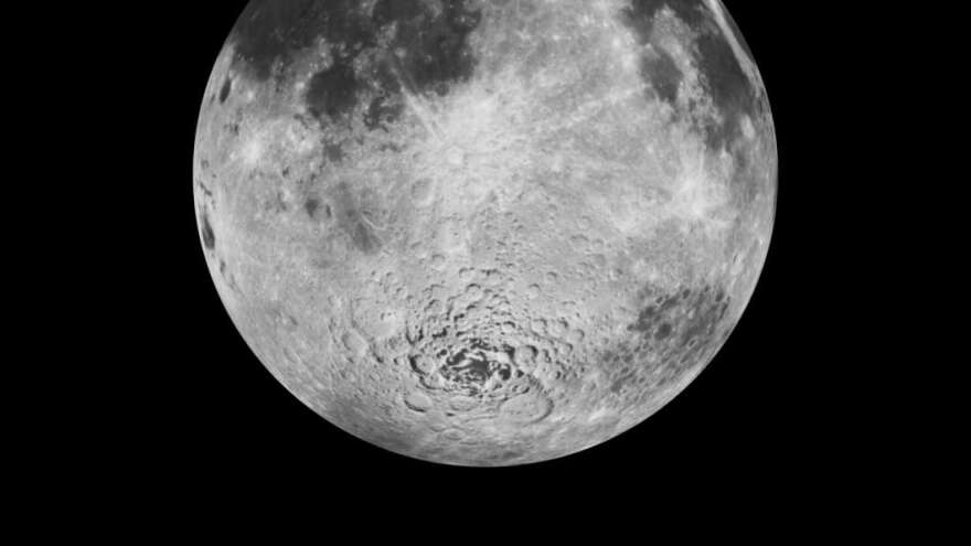 Scientists believe there is water trapped in the soil on the moon, especially near the moon's poles.