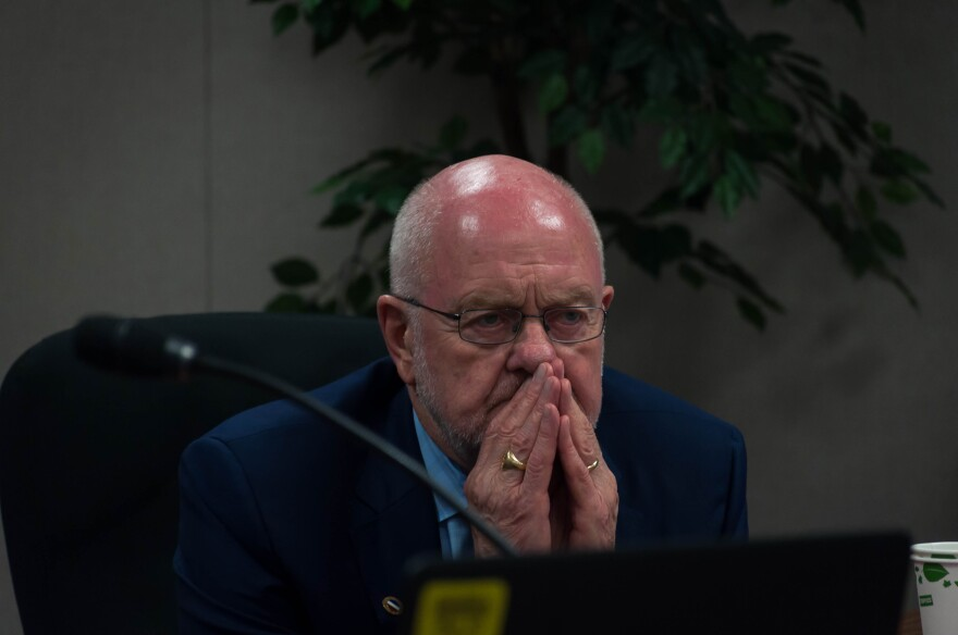 Peter Herschend listens to a presentation Thursday, June 14, 2018. He was appointed back to the Missouri State Board of Education this week after first serving from 1991 to 2017.