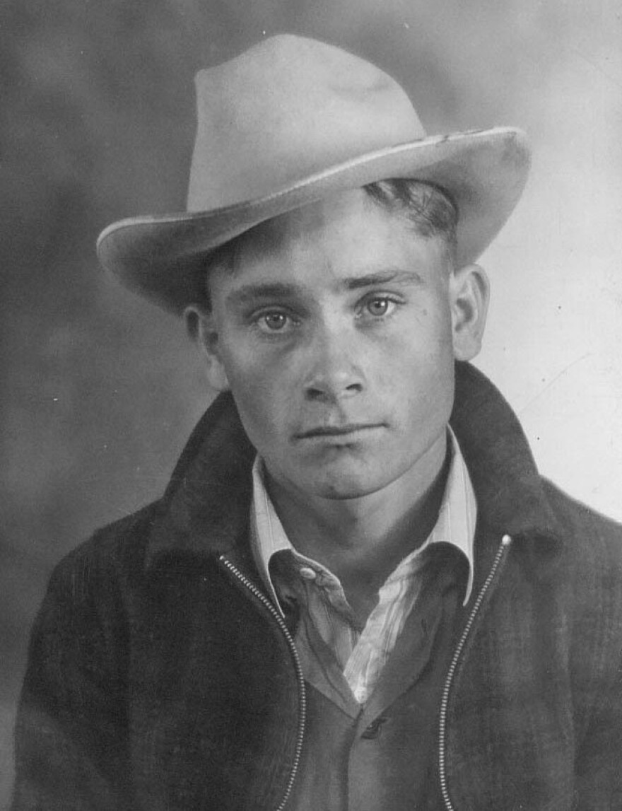 Johnny McDaniel, Rodger's father, pictured when he was about 18 years old in Sweetwater, Texas.