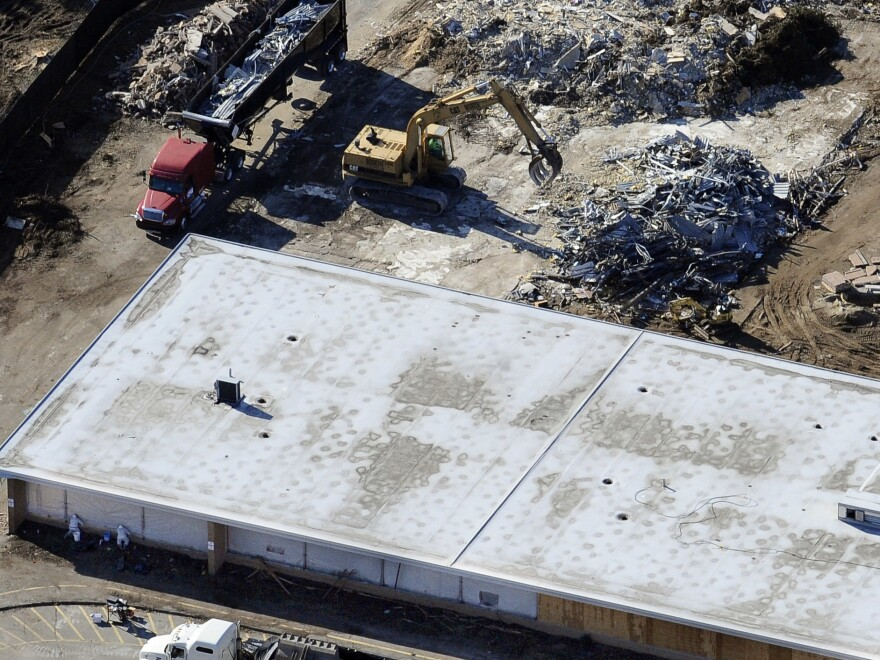 Sandy Hook Elementary School, where 20 children and six adults were killed in 2012, was demolished in 2013.