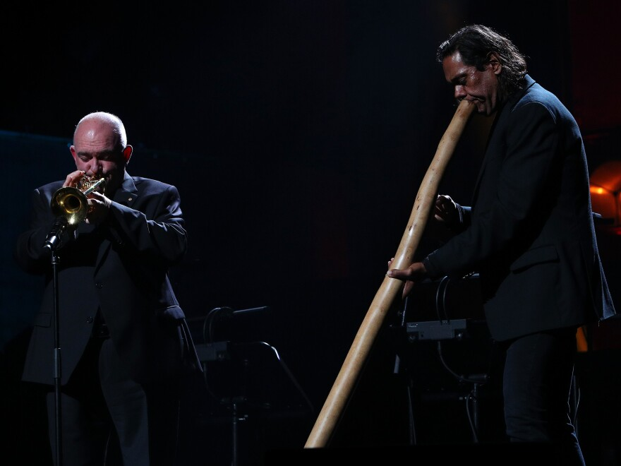 James Morrison, left, and William Barton perform.