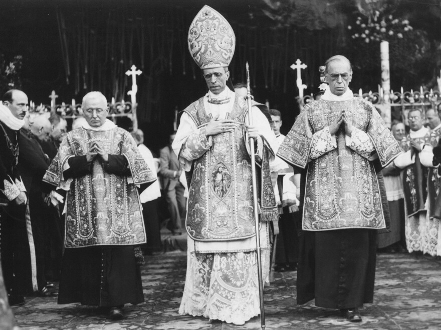 Roman Catholic Church officials have always insisted that Pope Pius XII, shown here in an undated photo, did everything possible to save Jewish lives. But he remained publicly silent while some 6 million Jews were killed in the Holocaust.