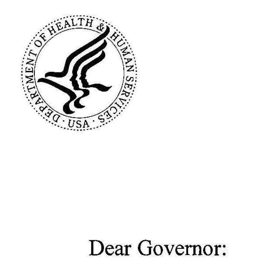 Click on image to read Sebelius' letter to governors.