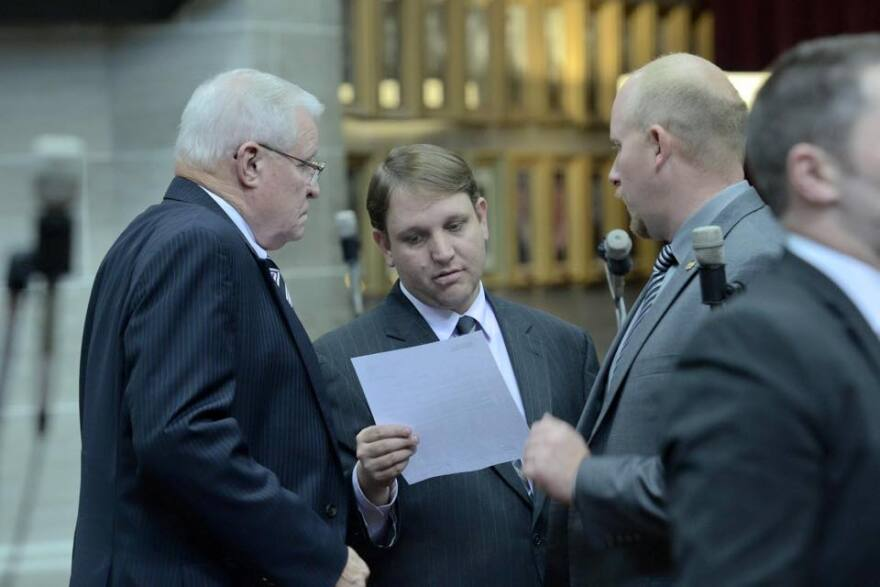 "State Rep. Jeremy LaFaver, center, voted to nullify St. Louis and St. Louis County's foreclosure mediation ordinances in 2013. But the Kansas City Democrat says ""local control"" isn't a philosophical approach embraced by his party."