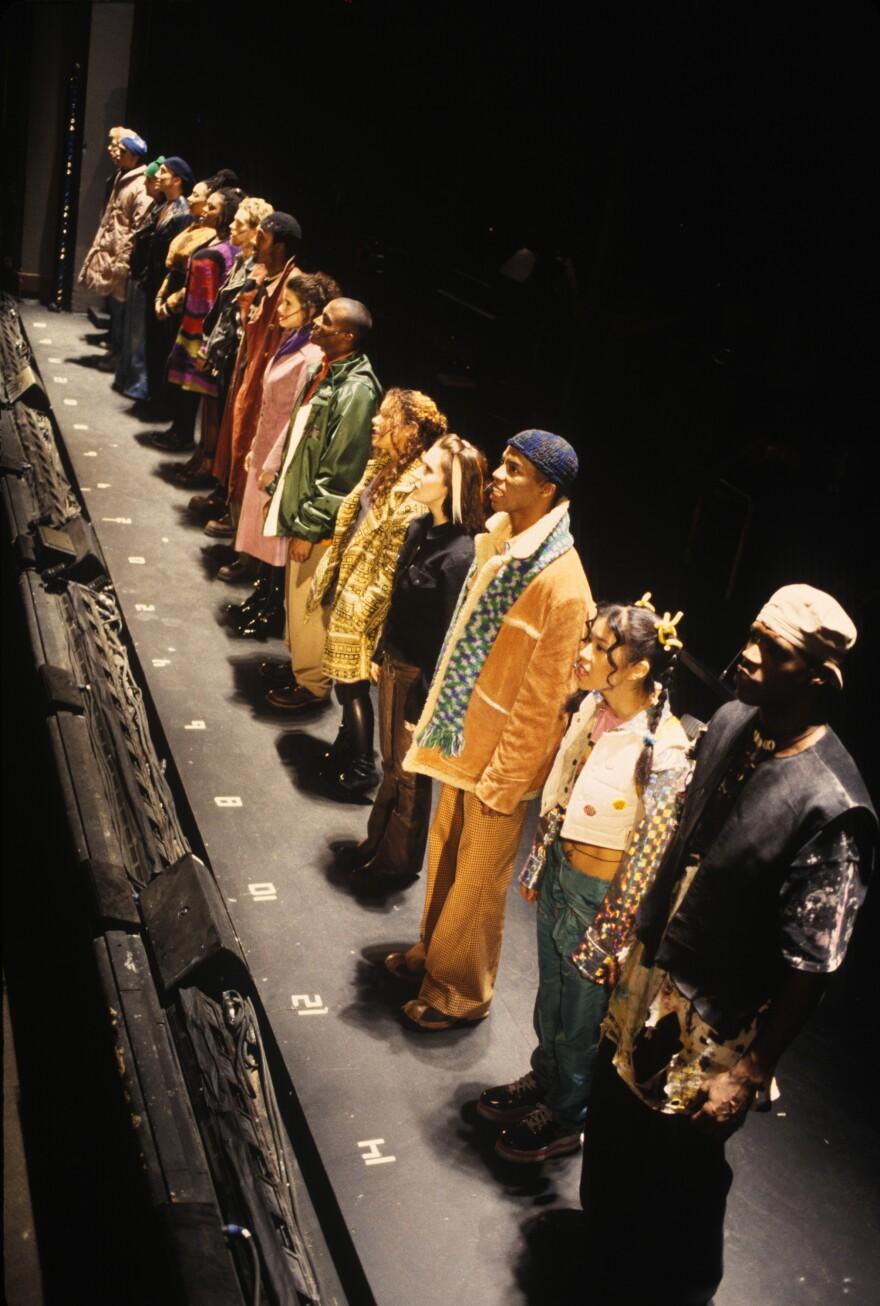 The cast of <em>Rent </em>at New York Theatre Workshop.
