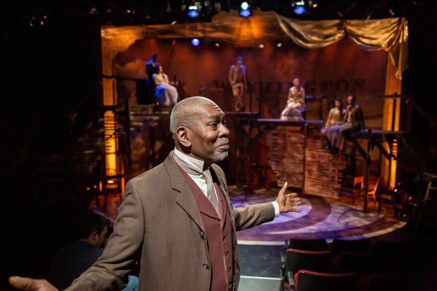"""J. Samuel Davis plays Antoine in New Jewish Theatre's production of """"District Merchants."""" 1/24/19"""