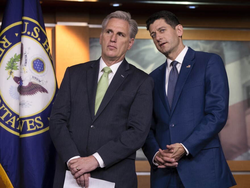 "House Majority Leader Kevin McCarthy, R-Calif., and House Speaker Paul Ryan, R-Wis., continue to try to wrangle votes for a ""consensus"" immigration bill."