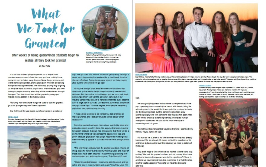A screen shot of the page in the student newspaper