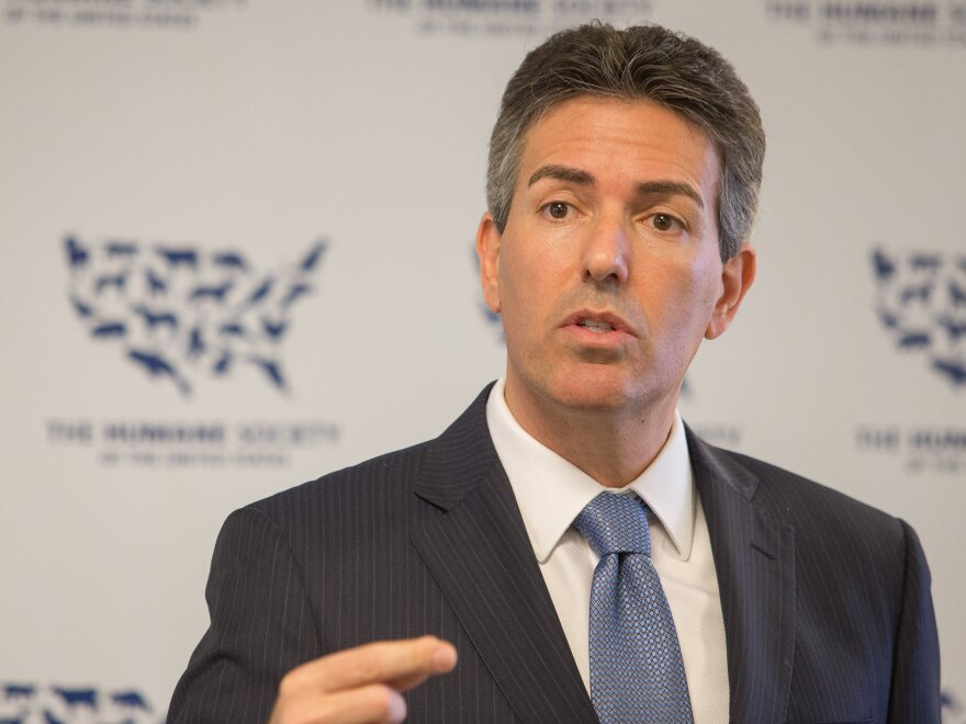 Humane Society CEO Wayne Pacelle speaks on the importance of farm animal protection in 2015.