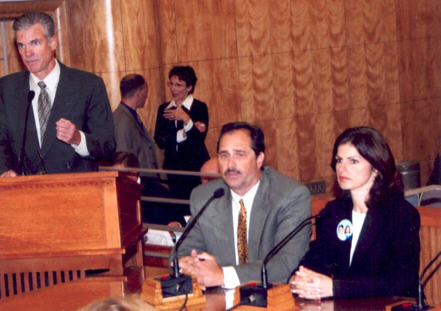 Bob and Carmen Pack testify at a hearing in 2006 in Sacramento to authorize the building of a database that tracks the number of times a patient is prescribed potent narcotics.