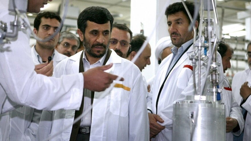 Iranian President Mahmoud Ahmadinejad visits the Natanz uranium enrichment facility in April 2008. Western governments suspect Iran is seeking nuclear weapons, a charge Tehran denies. How to handle the possible threat from a nuclear-armed Iran is a major foreign policy concern of the U.S.
