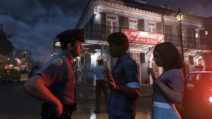 Throughout the game, players encounter instances of direct confrontations between law enforcement authorities and the black populace.