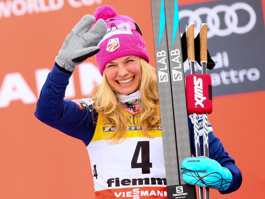 Jessica Diggins takes third place at the FIS Nordic World Cup on January 7.