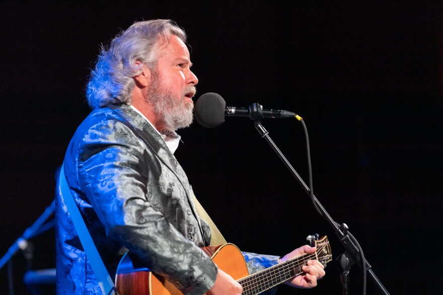 Robert Earl Keen performs on <em>Ask Me Another</em> at the Aztec Theatre in San Antonio, Texas.