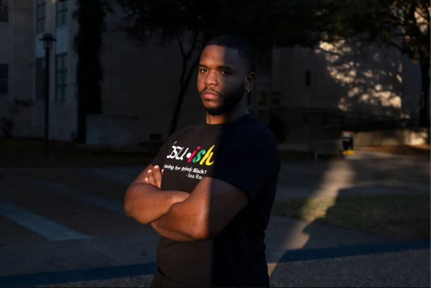 Brian Kirksey is vice president of the Black student union at the University of Houston.
