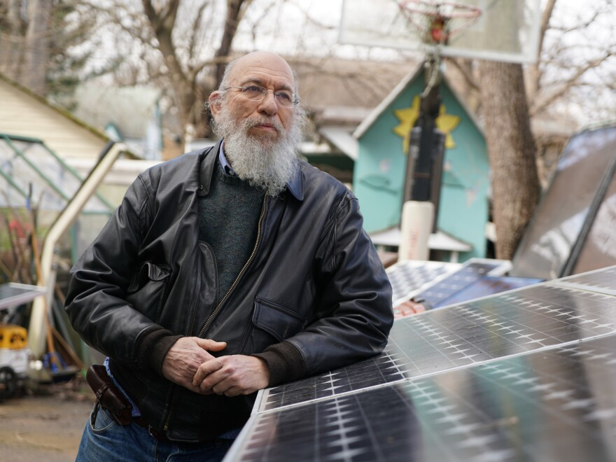 Solar guru Scott Sklar of George Washington University lives in Arlington, Va., in a home powered by solar and wind. The demand for solar power will only increase, he says.