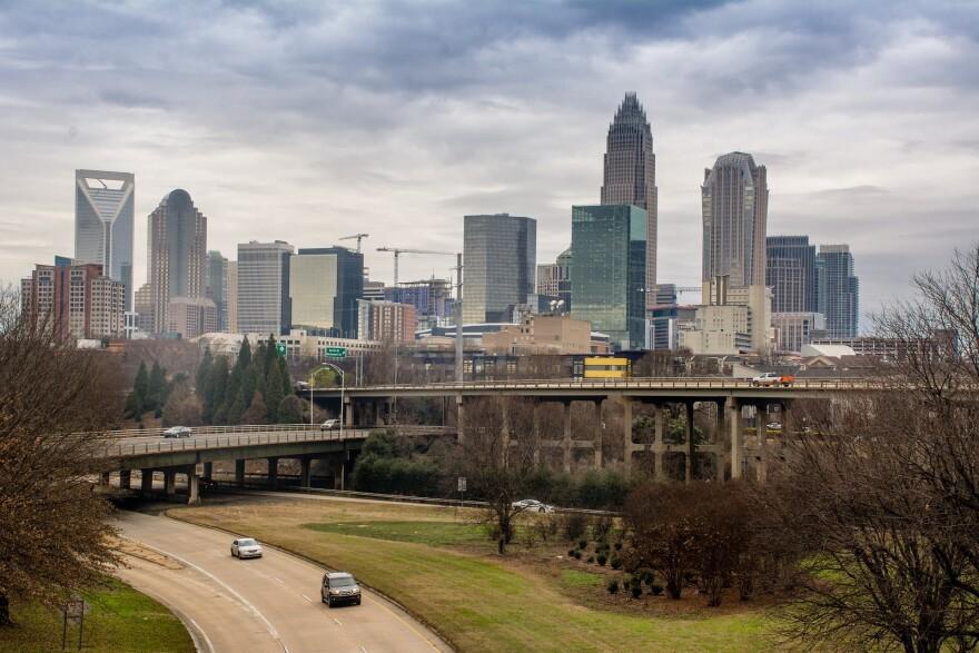 Charlotte skyline.