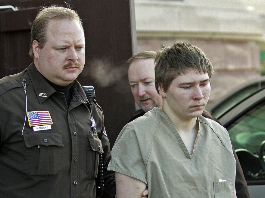 Brendan Dassey is escorted out of court in Wisconsin's Manitowoc County in 2006.