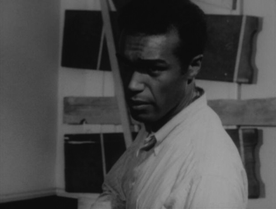 Actor Duane Jones in a scene from the movie Night of the Living Dead.