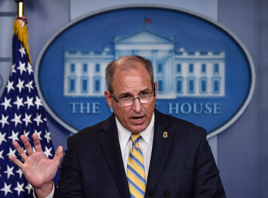 Acting Commissioner of Customs and Border Protection Mark Morgan speaks during a briefing at the White House on Monday.