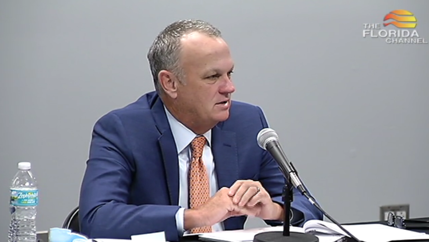 Education Commissioner Richard Corcoran speaks during a state Board of Education meeting on November 18, 2020