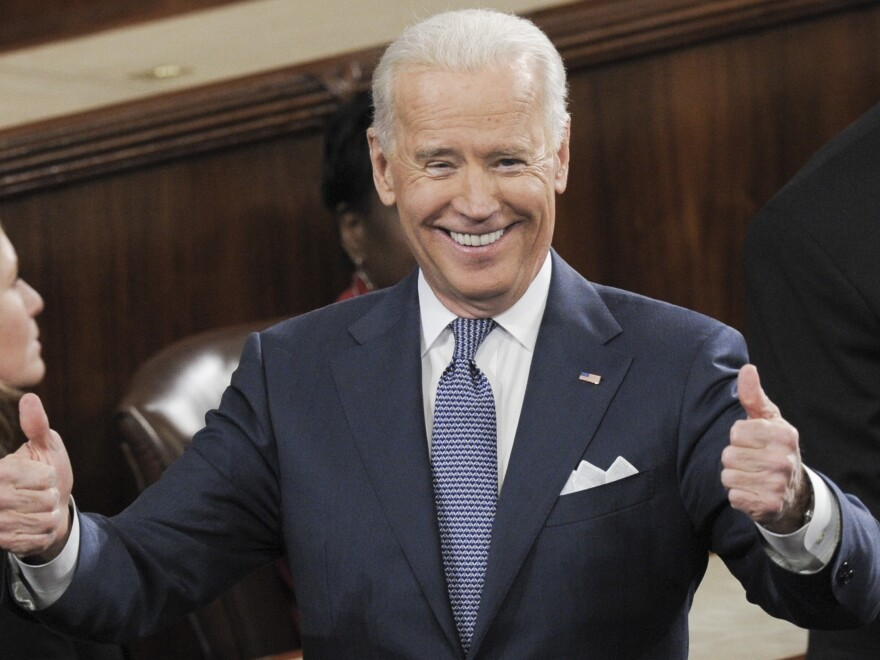 Vice President Biden in the Capitol before President Obama's State of the Union address last month.