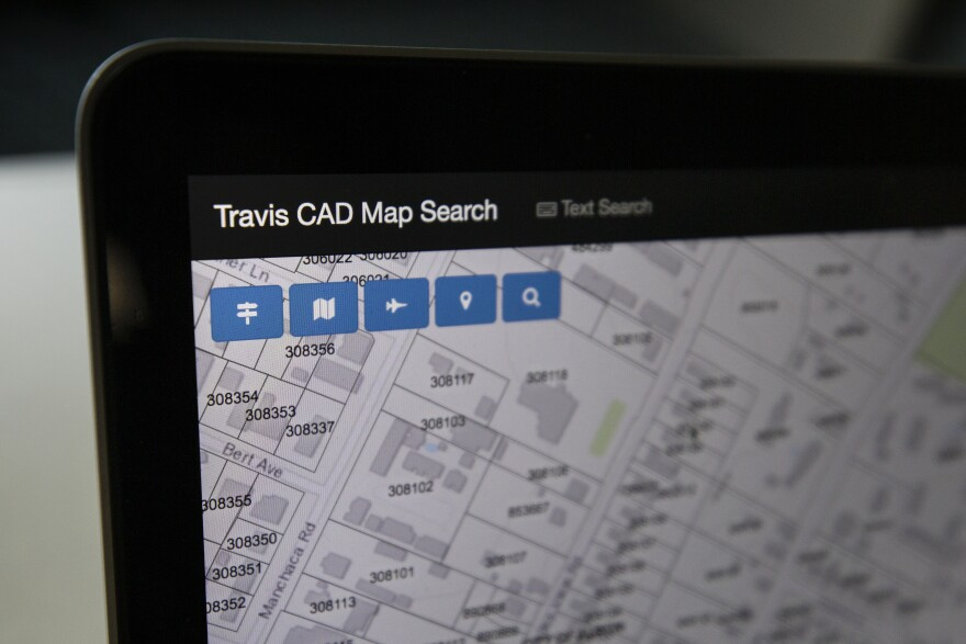 The Travis County Appraisal District's website