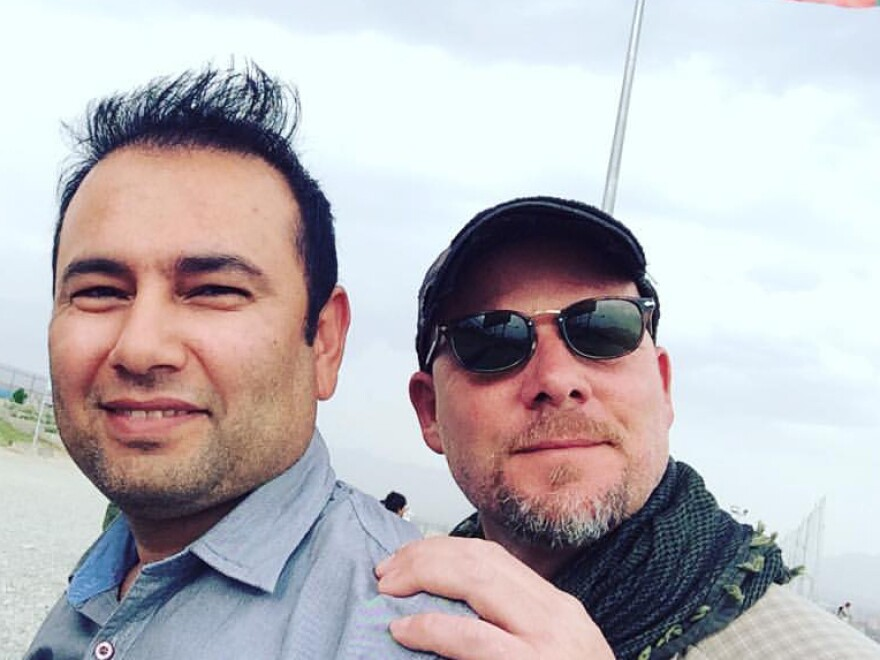 Zabihullah Tamanna (left) and David Gilkey in Afghanistan on June 2. David and Zabihullah were on assignment for the network traveling with an Afghan army unit. They were in an armored Humvee driven by a soldier of the Afghan National Army. All three were killed after the Humvee was hit by rocket propelled grenades in an apparent ambush.